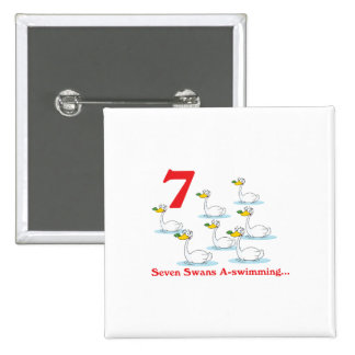 12 days seven swans a-swimming button