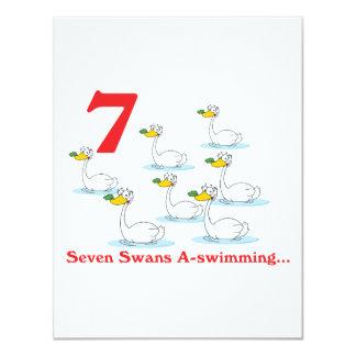 12 days seven swans a-swimming custom invite