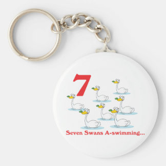 12 days seven swans a-swimming keychain