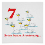 12 days seven swans a-swimming poster