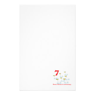 12 days seven swans a-swimming stationery