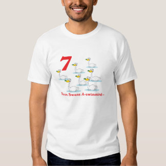 12 days seven swans a-swimming T-Shirt
