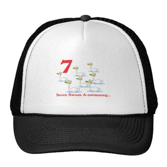 12 days seven swans a-swimming trucker hat