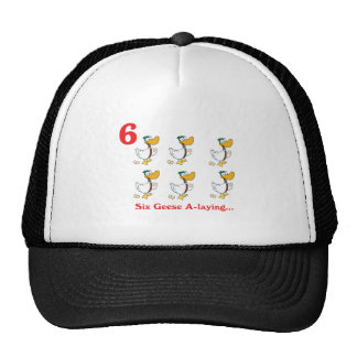 12 days six geese a-laying mesh hats