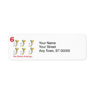 12 days six geese a-laying return address label
