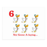 12 days six geese a-laying post card