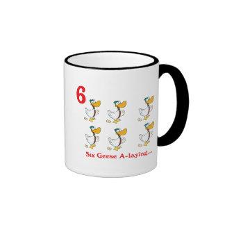 12 days six geese a-laying ringer mug