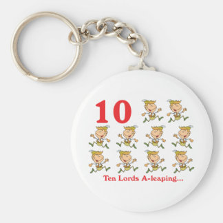 12 days ten lords a-leaping keychain