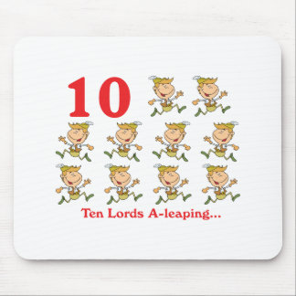 12 days ten lords a-leaping mouse pad