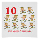 12 days ten lords a-leaping posters