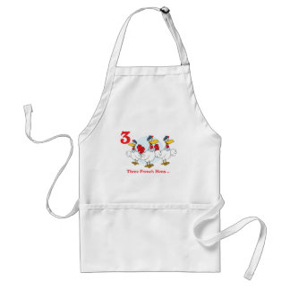 12 days three french hens adult apron