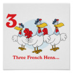 12 days three french hens poster