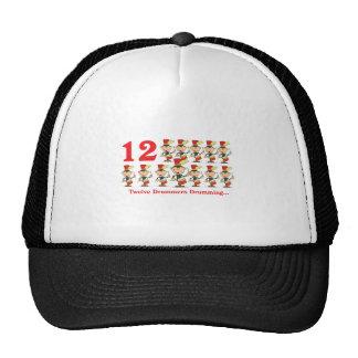 12 days twelve drummers drumming mesh hats