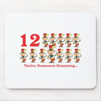 12 days twelve drummers drumming mouse pad