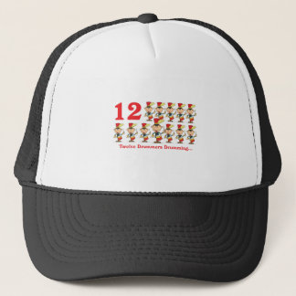 12 days twelve drummers drumming trucker hat