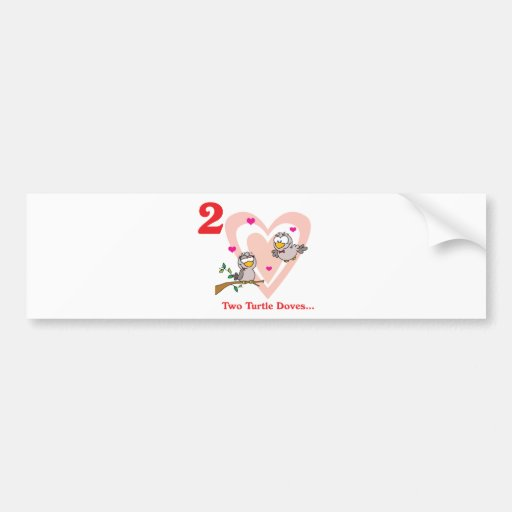 12 days two turtle doves bumper stickers