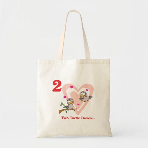 12 days two turtle doves canvas bag