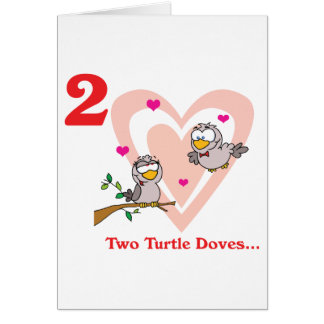 12 days two turtle doves card