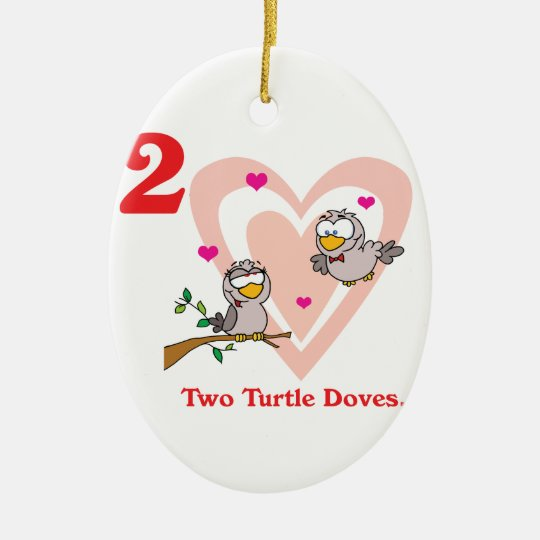 12 days two turtle doves ceramic ornament