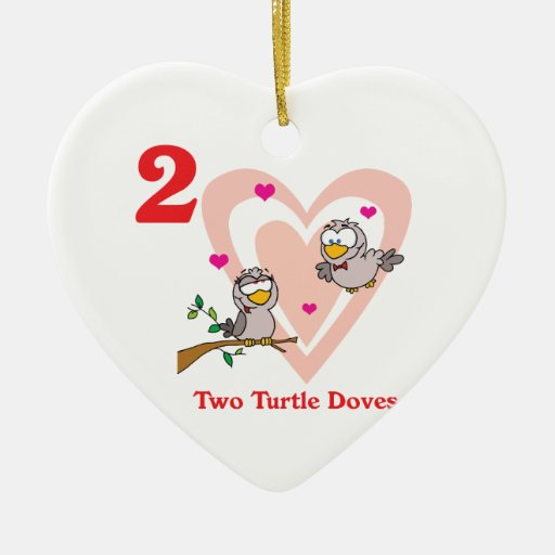 12 days two turtle doves christmas tree ornaments