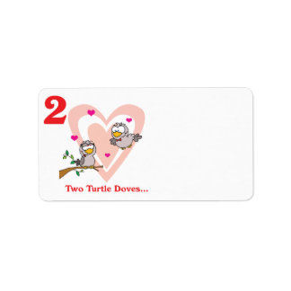 12 days two turtle doves label