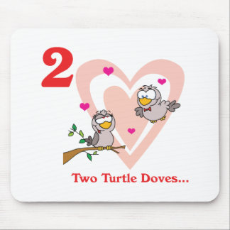 12 days two turtle doves mouse pad