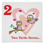 12 days two turtle doves print