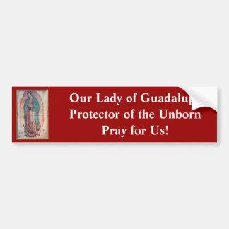 12 de diciembre   nuestra señora de Guadalupe Pegatina Para Auto