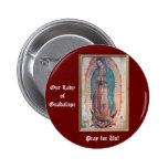 12 de diciembre   nuestra señora de Guadalupe Pin Redondo De 2 Pulgadas