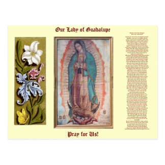 12 de diciembre   nuestra señora de Guadalupe Postal