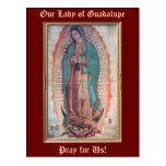 12 de diciembre   nuestra señora de Guadalupe Tarjeta Postal