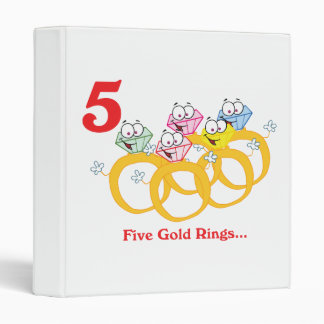 """12 días cinco anillos de oro carpeta 1"""""""