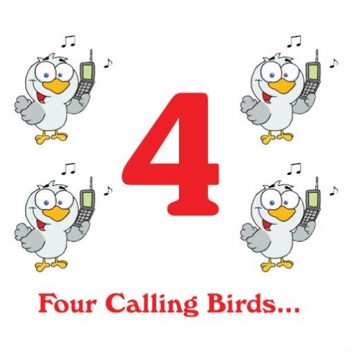 12 días cuatro pájaros de llamada esculturas fotográficas