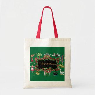 12 días de navidad - tote bolsa tela barata