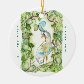 12 días de perdiz del navidad adorno navideño redondo de cerámica