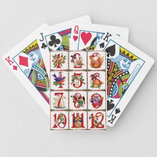 12 días de regalos de la impresión del edredón del barajas de cartas