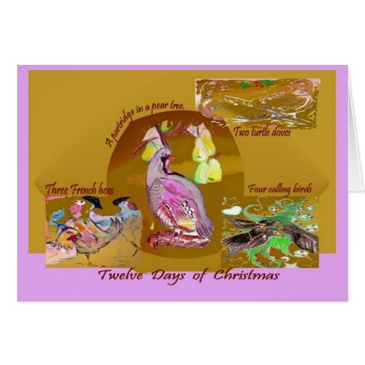 12 días de tarjeta de felicitación del navidad