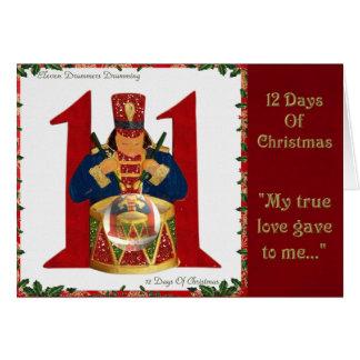 12 días de teclear de los baterías del navidad tarjeta de felicitación