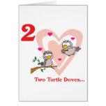 12 días dos palomas de la tortuga felicitaciones