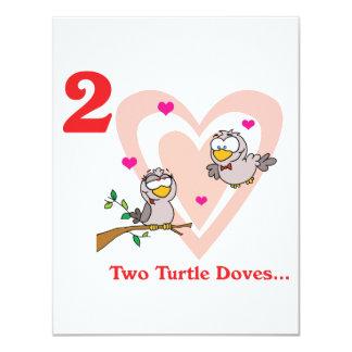 12 días dos palomas de la tortuga comunicado personalizado