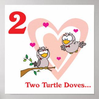 12 días dos palomas de la tortuga posters