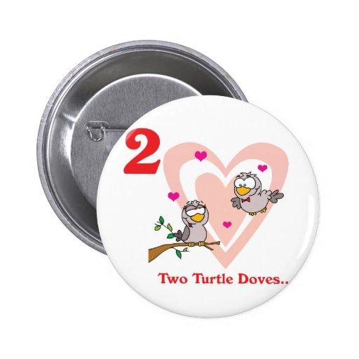 12 días dos palomas de la tortuga pins