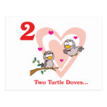 12 días dos palomas de la tortuga postal