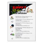 12 días enérgicos de tarjeta de Navidad
