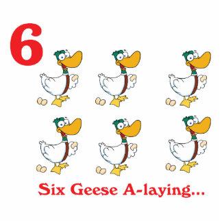 12 días seis uno-colocaciones de los gansos escultura fotográfica