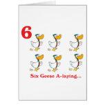 12 días seis uno-colocaciones de los gansos tarjetas
