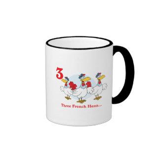 12 días tres gallinas francesas tazas de café