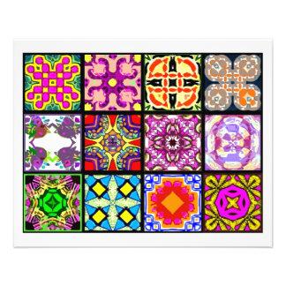 12 Different Tea Bag Tiles - Origami Folding Full Color Flyer