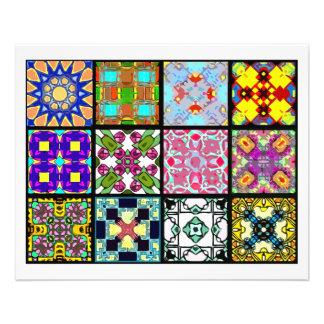12 Different Tea Bag Tiles - Origami Folding Custom Flyer