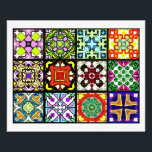 """12 Different Tea Bag Tiles - Origami Folding Flyer<br><div class=""""desc"""">From each set of these high quality prints, you will have enough brightly colored tea bag tiles to make 36 medallions each made with eight tiles. This will give you three each of 12 different styles of medallions. Just cut out the little square and use tea bag folding techniques to...</div>"""